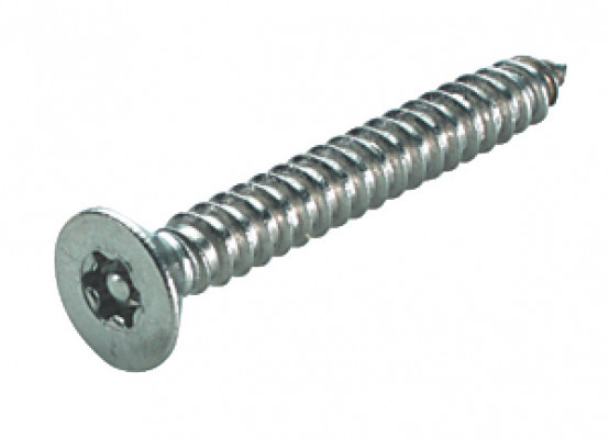 Security screw, countersunk, 6-lobe/resistorex, size 2.9x19 mm, T10