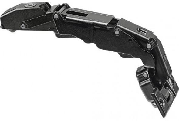 CLIP top BLUMOTION wide angle hinge zero protrusion 155°, OVERLAY, screw-on, Onyx Black
