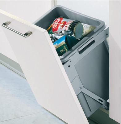 Waste bin, tilting, 30 litres, installation behind fronts -for cabinet width: min. 500 mm