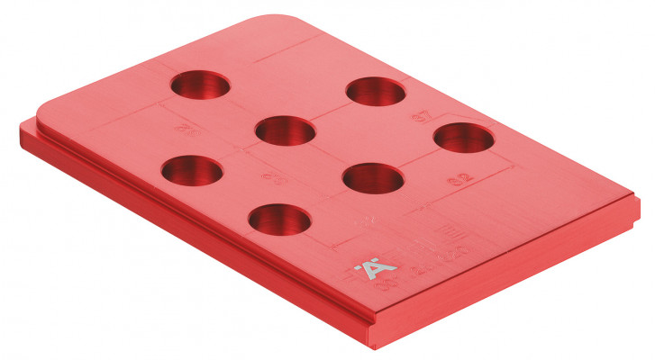 Drilling jig, Häfele red jig, for connectors & series drilled holes, for holes 37/60 mm