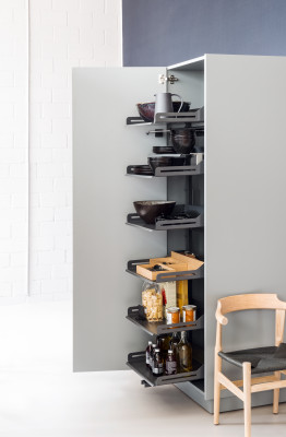 Pull out larder unit, set of drawer, PLENO STD LIBELL, CW=450 mm, H=1900mm, anthracite