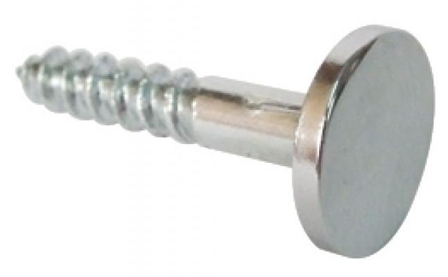 Mirror screw, with disc set, chrome