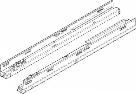 ANTARO/TANDEMBOX BLUMOTION TIP-ON cabinet profile, 30 kg, NL=400 mm, left+right, ZN