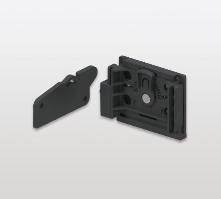 CLICK STOP locking mechanism for LIBELL or wooden drawers, right hand, anthracite