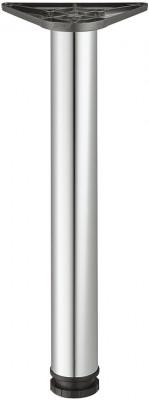 Leg, 60/80 mm, tubular steel, steel, 60 mm, height 710 mm, chrome