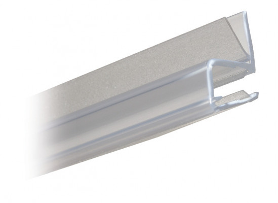 Shower seal, door jamb profile for 90ø applications, L=2010 mm, Transparent