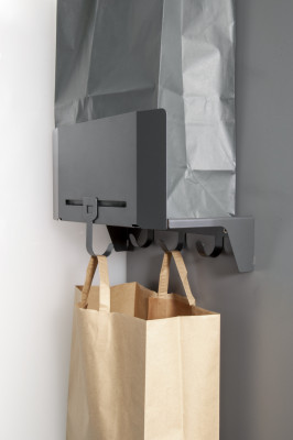 SESAM recycling cupboard bag holder, PEKA, anthracite