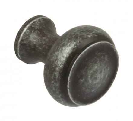 Knob, zinc alloy, Ø 35 mm, maya, pewter