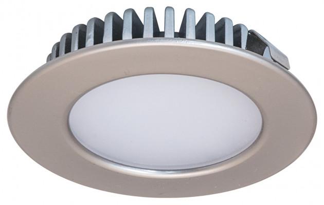 LED downlight 12V/3.2W,  65 mm, IP44, Loox LED, matt nickel, warm white 3000 K