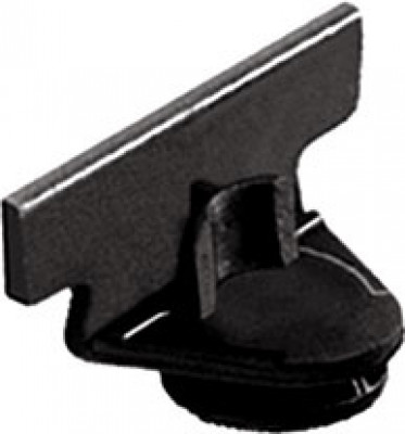 Insertion tool, one-way, for tab 18 shelf connectors, black plastic