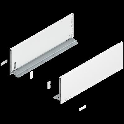 LEGRABOX pure drawer side, height C (177 mm), NL=500 mm, left+right, silk white