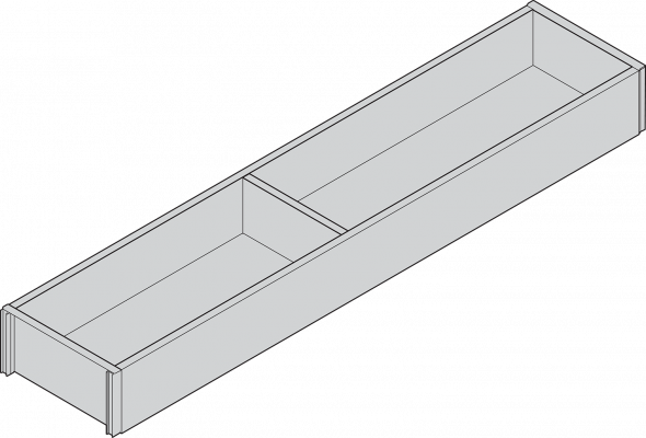 AMBIA-LINE Frame, width=242 mm, NL=270 mm, terra black