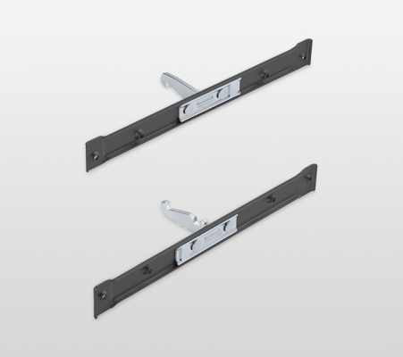 Front bracket for high cabinets with CLICKFIXX, CW=150/200/250mm, PEKA, anthracite