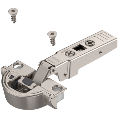 CLIP top BLUMOTION profile door hinge 95°, OVERLAY for aluminium framed doors, nickel