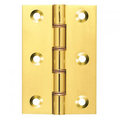 Butt hinge (doubled washered), brass, 75x50mm, with screws, BMA
