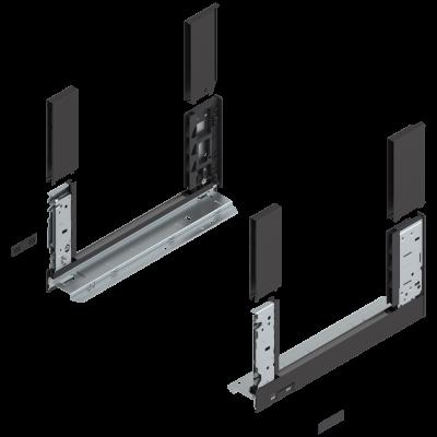 LEGRABOX free drawer side, height C (177 mm), NL=350 mm, left+right, terra black