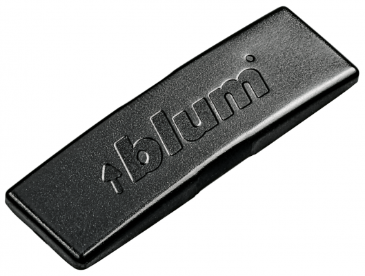 Cover cap for CLIP top hinge, BLUM logo, onyx black