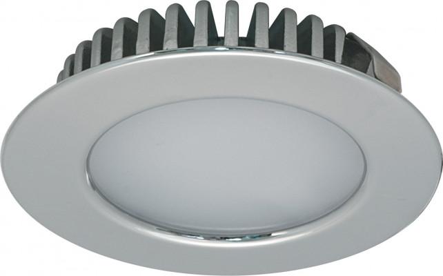 LED downlight 12V/3.2W,  65 mm, IP44, Loox LED, polished chromel, cool white 4000 K