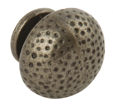 Knob, cast iron, Ø 38 mm, Polka, antique pewter