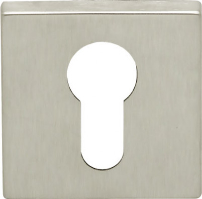 Escutcheon, for STARTEC lever handle, square, euro profile cylinder, zinc alloy, chrome