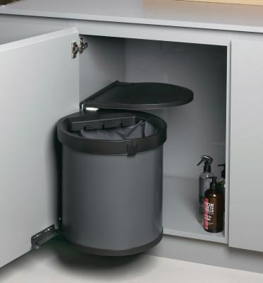 MULLBOY BIG, 40 litre, hinged bin, H=395 mm, Diameter=Ø 357 mm, anthracite