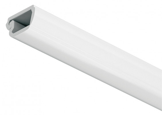Cable channel, L=2500 mm, with hinged lid, for concealing Loox cables, white RAL9010
