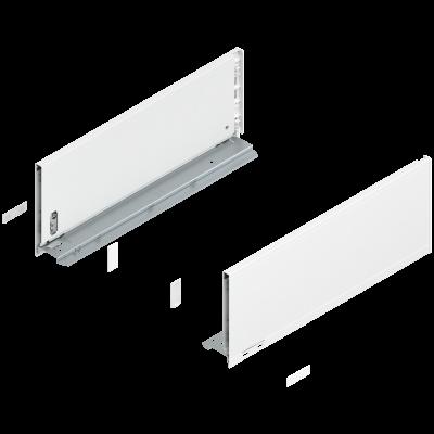 LEGRABOX pure drawer side, height C (177 mm), NL=450 mm, left+right, silk white