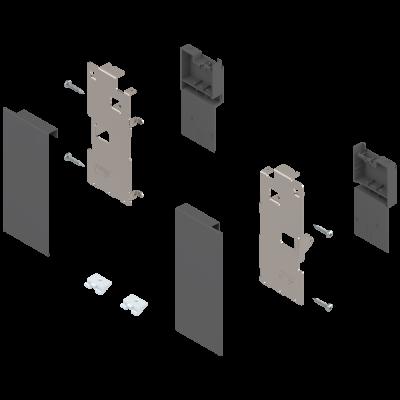 LEGRABOX front fixing, height K , for inner drawer, left+right, orion grey