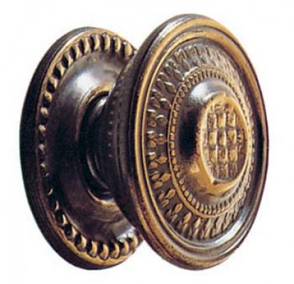 "Knob, 1"", antique brass"