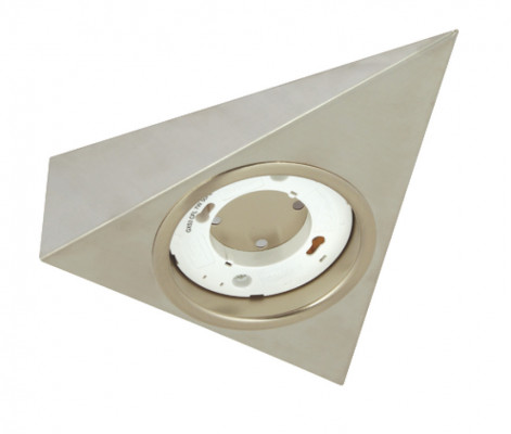 Downlight housing, to suit GX53 downlights, rated IP20, stainless steel, satin