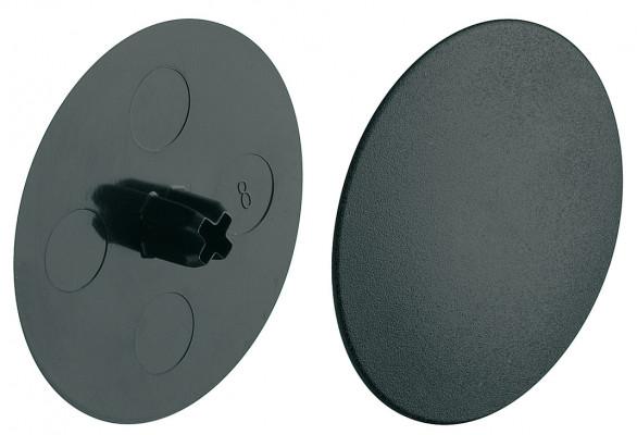 Maxifix universal connectors, cover cap, plastic, black, › 39 mm