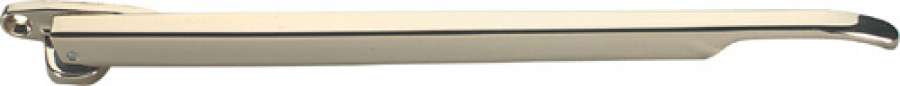 Casement stay, for timber windows, zinc alloy, length 257 mm, white