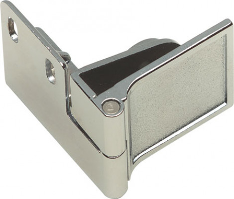 Glass door hinge, 170ø, middle, zinc alloy , chrome