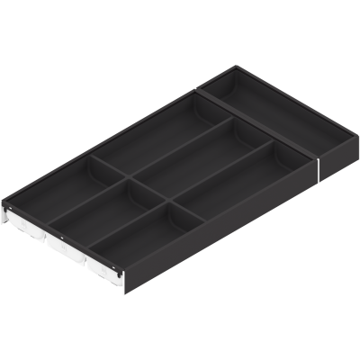 AMBIA-LINE cutlery insert, width=300 mm, NL=600 mm, orion grey