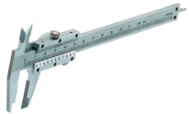 Vernier gauge, measures to 157 mm, steel