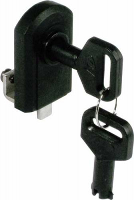 Glass door lock, no drilling required, closure travel: 180°, black