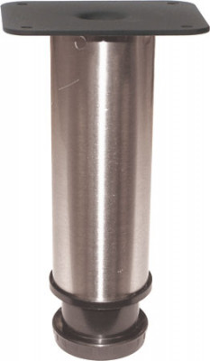 Cabinet foot, set of 4 feet, 150 mm high, satin nickel or chrome, chrome