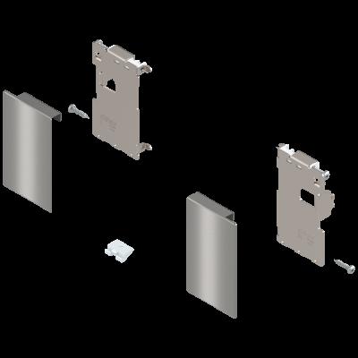 LEGRABOX front fixing, height M (91 mm), for inner drawer, left+right, stainless steel