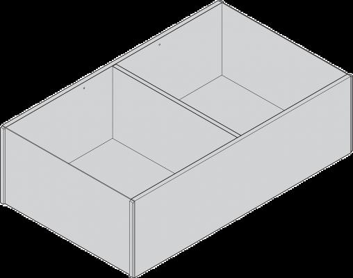 AMBIA-LINE Frame, width=218 mm, NL=400 mm, orion grey/nebraska oak