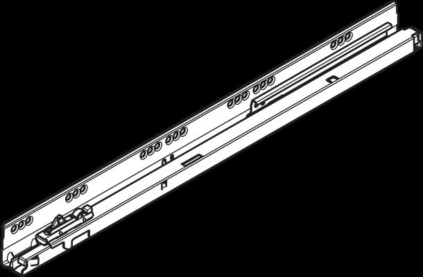 ANTARO/TANDEMBOX cabinet profile, 65 kg, NL=650 mm, left, ZN