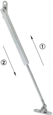 Flap stay, fall-ex, with braking mechanism, L=450 mm