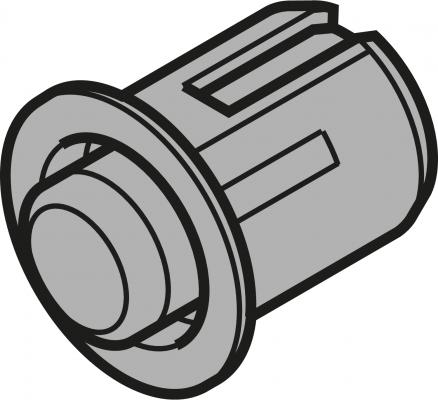 Distance bumper, Ø 8 mm, gap 2.6 mm, drilling