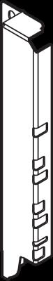 ANTARO/TANDEMBOX back fixings bracket, height D (224 mm), right, terra black