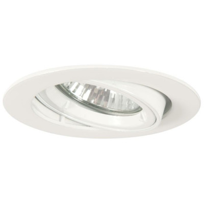 LED Downlight 240V/50W with tilt action, (NEEDS LAMP) white