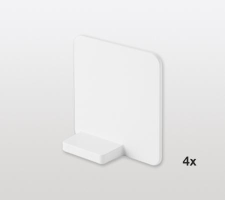 Magnetic divider set for LIBELL shelves x4, PEKA, white