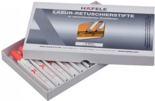 Touch-up pens, for repair work, häfele, various wood shades