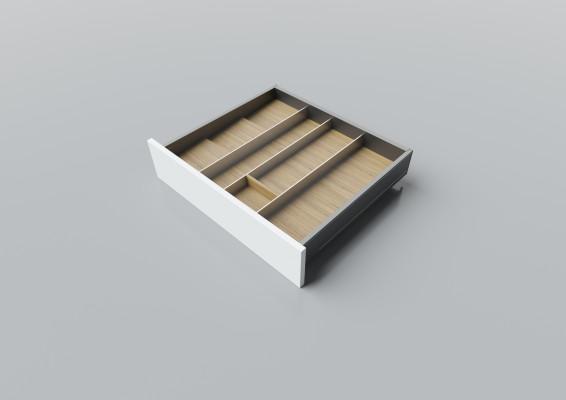 Cutlery divider for LEGRABOX/TA'OR C=550-600 mm, NL=500 mm, oak