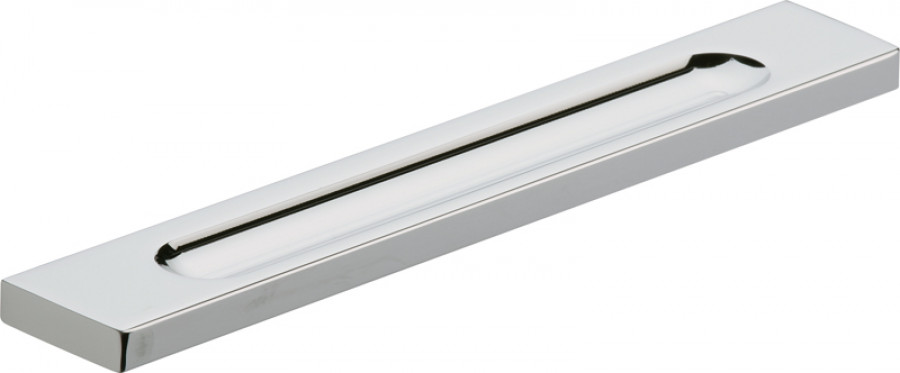 Pull handle, aluminum, fixing centres 320 mm, chrome, fixing centres 320 mm