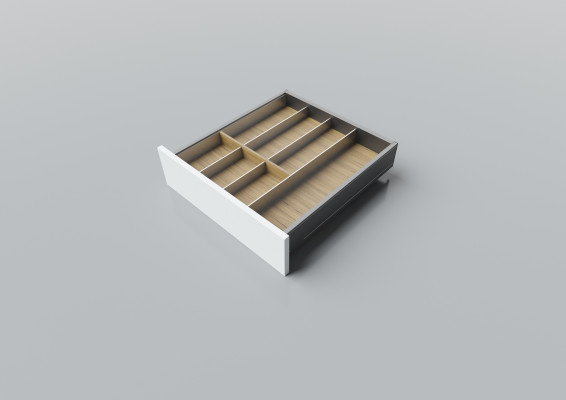 Cutlery divider for LEGRABOX/TA'OR C=400-550 mm, NL=500 mm, oak
