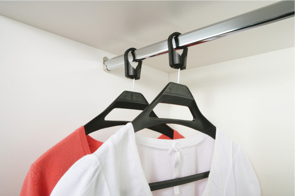 Coat hanger, anti-theft coat hanger, maximum Ø 38 mm wardrobe rail, brown